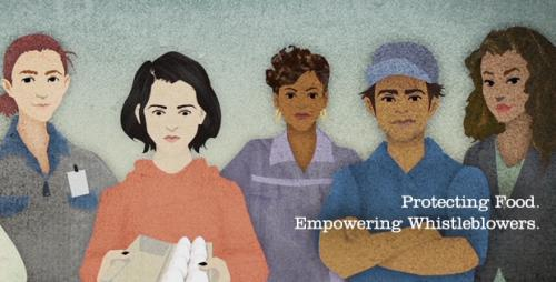 diverse women in various work uniforms. protecting food. empowering whistleblowers