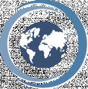 circular icon globe